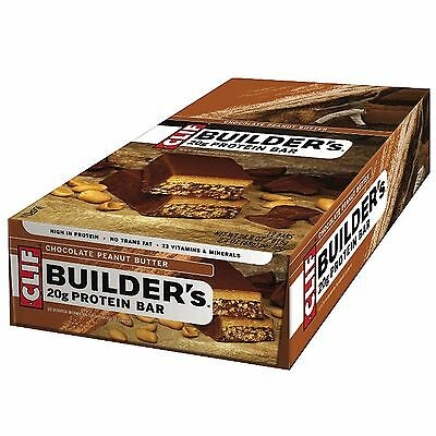 Clif Builders Muscle Growing Gym/Sports/Power 20g Protein Bar - Pack of 12