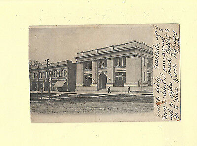 New Milford CT 1906 Antique postcard UNITED BANK BUILDING Conn to Pawling NY