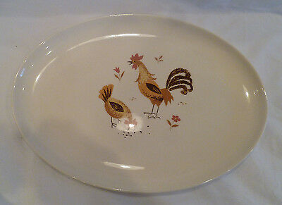 Taylor-Smith-Taylor china Break-o-day-rooster chicken oval serving platter