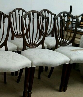 Set of 6 Hepplewhite Antique Dining Chair