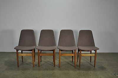 Set of 4 timber restored dining chairs retro danish eames parker era