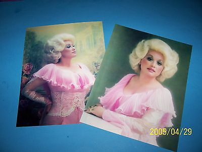 DOLLY PARTON (2) 8.5 X 11 INCH PHOTO`S!! BEAUTIFUL in PINK!!