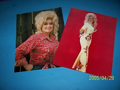 Dolly Parton (2) 8.5 X 11 Inch Photo`s!! Beautiful 1975  Year