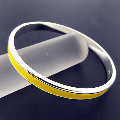 A874 Genuine Real 925 Sterling Silver S/f Solid Ladies Cuff Bangle Bracelet