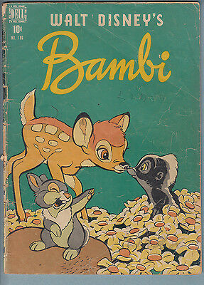 (Four Color) Bambi 186 GD/VG (1948) Dell Comic