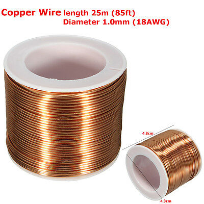 25m 85ft 1mm ENAMELLED COPPER WIRE MAGNET ROTOR COIL STARTER SOLENOID REWINDIN