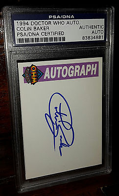 Rare Colin Baker 6th Doctor Who hand signed autographed Cornerstone trading card