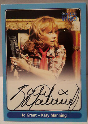 """DOCTOR WHO Katy Manning """"Jo Grant"""" auto/autograph Strictly Ink Card #A11"""