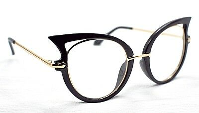 GF21 Black & Gold Cat Eye Vintage Fashion 2017 Retro Glasses Frame/Eyeglasses