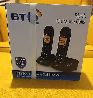 BT1200 Nuisance Call Blocker Twin Cordless Phone New And Unopened
