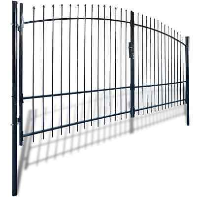 141367 Double Door Fence Gate with Spear Top 400 x 225 cm - Untranslated