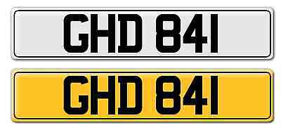 Personal Number Plate Registration GHD 841 On Retention Dateless 1960's Dewsbury