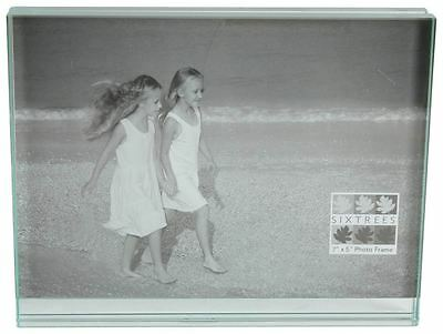Clear Level Heavy Glass Photo Frame 7x5 by Sixtrees