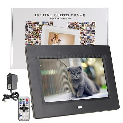 7'' LCD 800*480 Digital Photo Frame Picture Video MP3 Black with Remote Control
