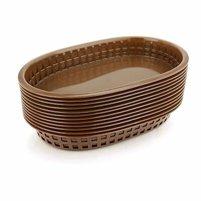 Star 44003 Fast Food Baskets 10.5 by 7in Brown Set of 12, New