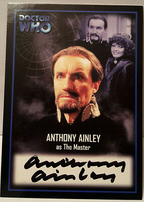 """Doctor Who / Anthony Ainley """"The Master"""" signed auto autograph Strictly Ink card"""