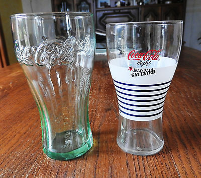 Lot 2 Verres COCA COLA dont Jean Paul Gaultier