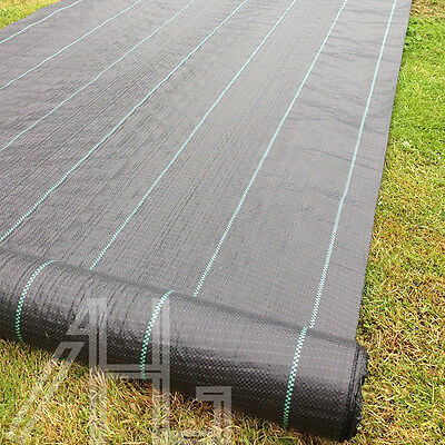 2X10m HeavyDuty Weed Control Fabric Ground Cover Membrane Landscape Mulch Garden