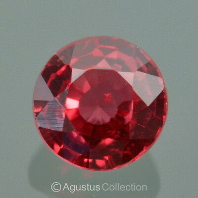 0.21 cts Red Songea RUBY Round Faceted VVS Clean Natural Gemstone Tanzania