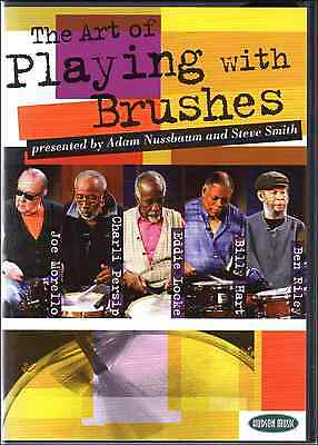 THE ART OF PLAYING WITH BRUSHES HOW TO PLAY DRUMS DRUM SNARE DVDs & CD 7 Hours!