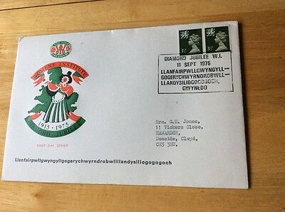 11/9/1975 UK GB FDC - Womens Institute Diamond Jubilee - Welsh- Wales