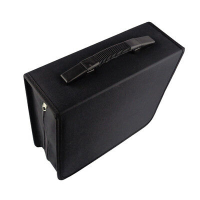 288 DVD CD Black DISC Holder Storage Case Box Folder Wallet Movie Game Media