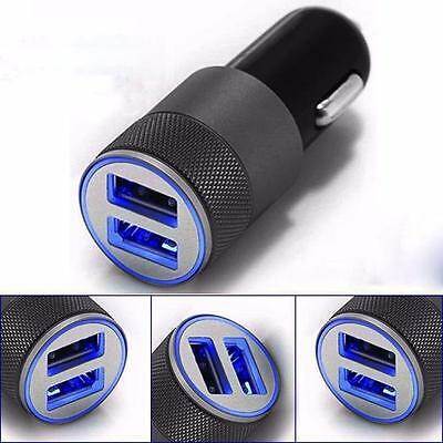 Mini Dual USB Twin Port 12V Universal In Car Lighter Socket Charger for iPhone