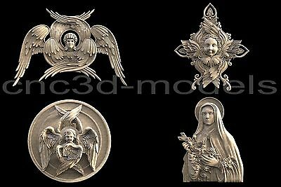 3D Model STL for CNC Router Engraver Carving Artcam Aspire Cherub Angel 022