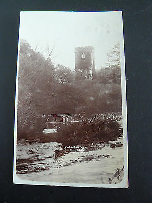 Llawhaden Church Real Photo RP Postcard - May Jones at Swansea - 1906