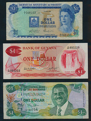 Surinam: 1963 5 Gulden & COLLECTION of 5 colourful Caribbean notes. Nice lot
