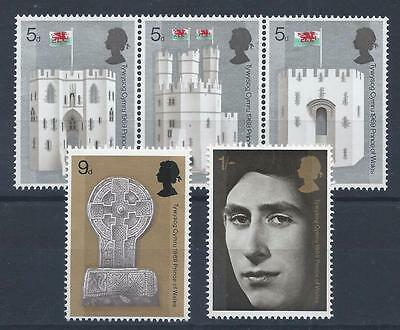 GB 1969 SG802-806 Investiture of H.R.H The Prince Of Wales Set Mint MNH