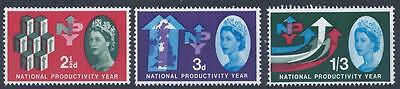 GB 1962 SG631-633 National Productivity Year Set Mint MNH
