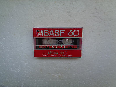 Vintage Audio Cassette BASF LH Extra 60 * Rare From 1985 *