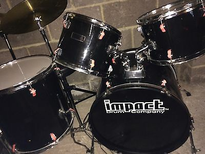 5 Piece Drum Kit With Cymbal And Hi Hat