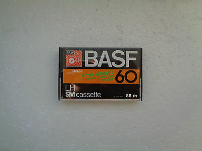 Vintage Audio Cassette BASF LH SM 60 * Rare From 1977 * Unsealed