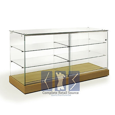 New Large Glass Showcase Lockable Display Counter Cabinets High Quality