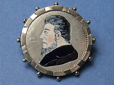 Enamelled Coin , South Africa Kruger 2 Shillings 1894 In Silver Brooch Mount