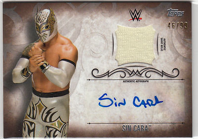 New! Sin Cara 2016 Topps Wwe Undisputed Autographed Relic Card (Shirt) #46/99