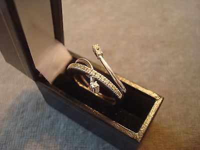 LADIES .750 18CT WHITE GOLD DIAMOND .25ct  RING 7g SIZE N 1/2 BOXED REF 0766