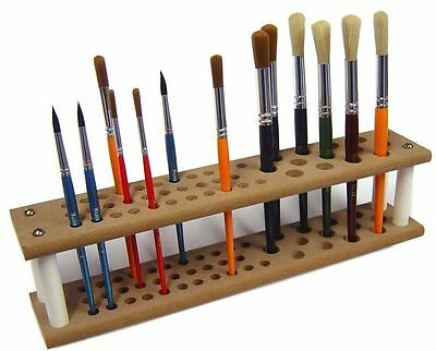 Major Brushes wooden Mdf paintbrush holder stand holds up to 45 brushes paint
