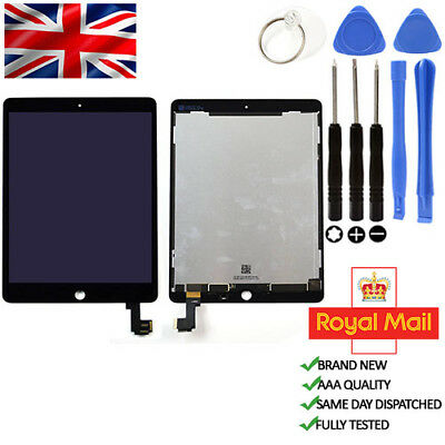 iPad 6 Air 2 Black LCD Touch Screen Display & Digitizer Replacement
