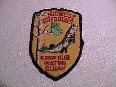 Midwest Outdoors Keep Our Water Clean Conservation Northern Pike Patch Used