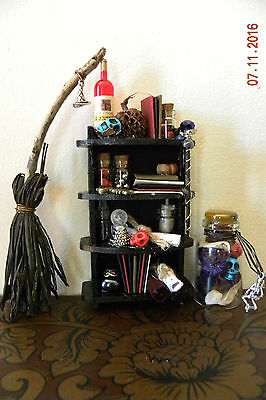 Doll House Handmade Minature Witches  Spell Shekf Kit, Harry Potter, Wizards