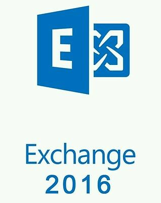 Microsoft Exchange Server 2016 Standard with 10CALs | Full Retail | Original USB