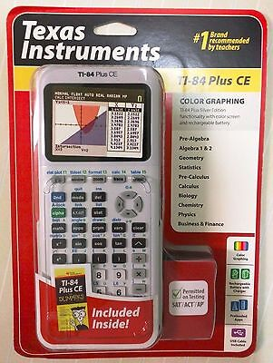 Brand New Texas Instruments TI-84 Plus CE Color Graphing Calculator White