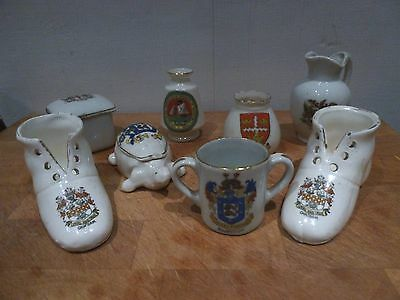 Arcadian / Tuscan / Foreign Crested China - Eight Pieces