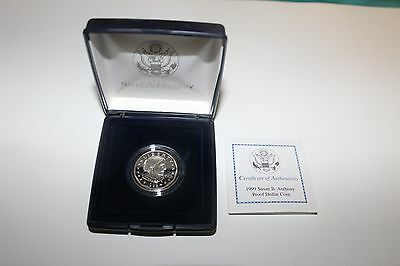 1999 Susan B. Anthony Proof Dollar Coin US Mint Case & COA