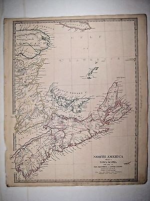 1832 SDUK: Map of Nova Scotia, New Brunswick, Canada