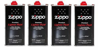 Zippo lighter fluid (Pack of 4) 12fl OZ with free shipping
