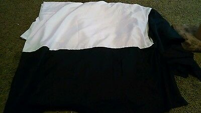 """Black/white bed skirt - Queen size 60""""x80"""""""